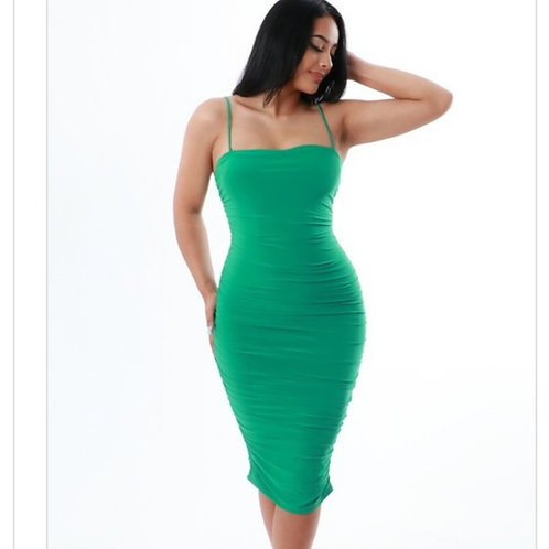 Get at Me Green Dress