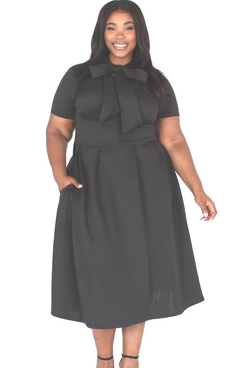 Black Tea Party Dress Curvy