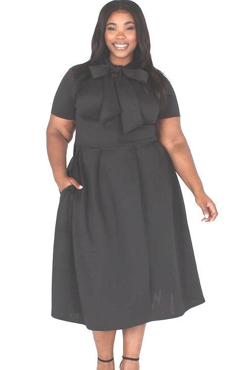 Black Tea Party Dress Curvy