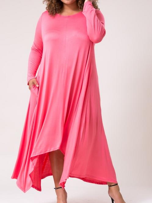 Coral Cleo Dress (Curvy)