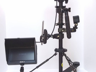 Capture smooth shots walking or with tripod with the Panpilot.   For all cameras up to 3 pounds.