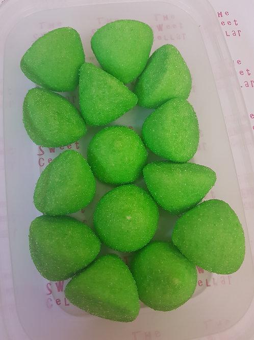Green paintball marshmallow