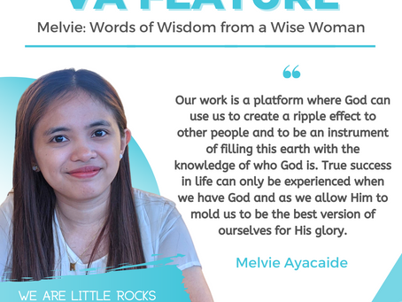 VA FEATURE: Melvie Ayacaide - Words of Wisdom from a Wise Woman