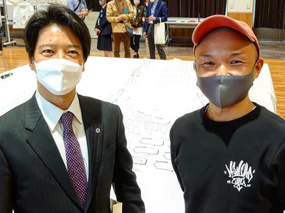 加古川市長さんに直接話ししました!