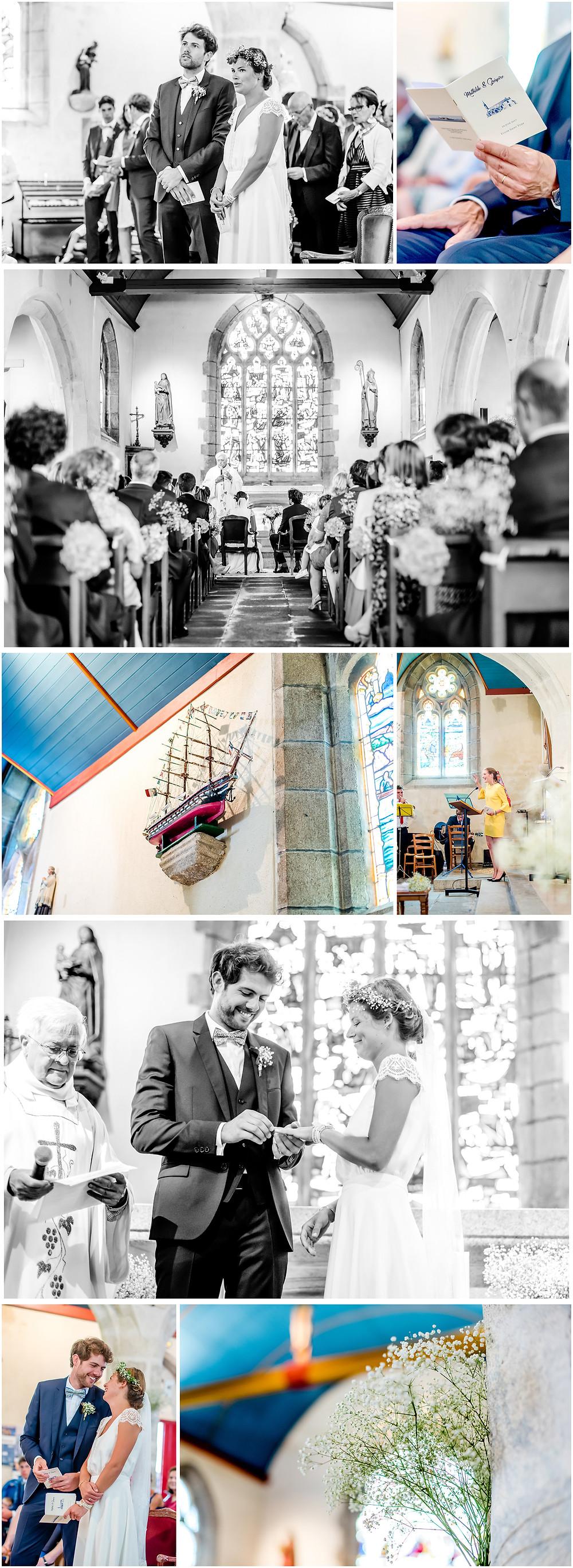 Mariage àl'Ile Tudy - Manoir de Kérouzien - photos église - Brigitte Delibes Photographie - Photographe Mariage Nantes