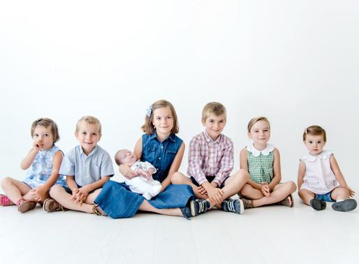 Photographe famille Nantes - Séance photo famille nombreuse !!