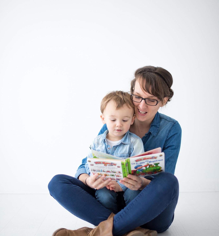 Brigitte Delibes Photographie - Home studio - séance photo mère-enfant