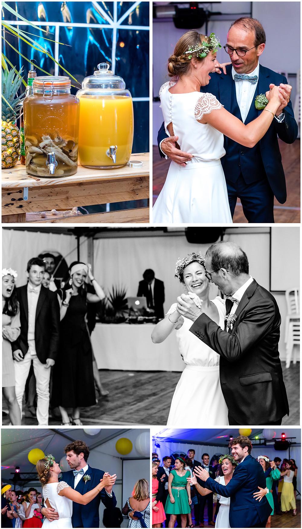 Mariage àl'Ile Tudy - Manoir de Kérouzien - photos soirée - Brigitte Delibes Photographie - Photographe Mariage Nantes