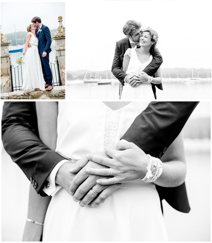 Mariage àl'Ile Tudy - Manoir de Kérouzien - photos de couple - Brigitte Delibes Photographie - Photographe Mariage Nantes