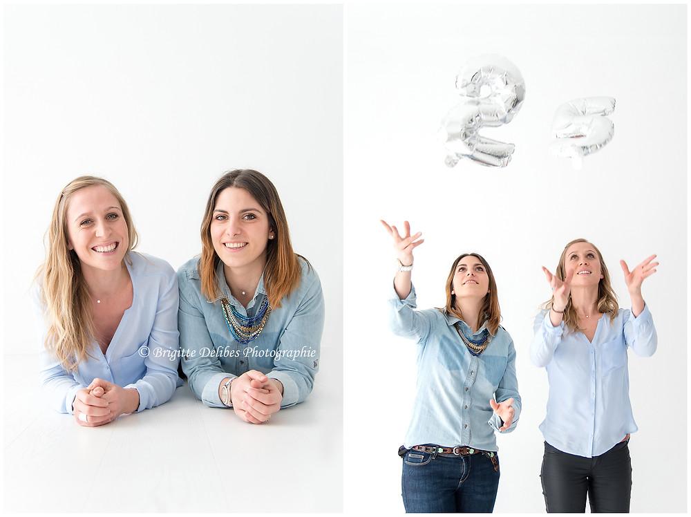 Brigitte Delibes Photographie - Photographe portrait Nantes -  Home studio - Séance photo entre amies