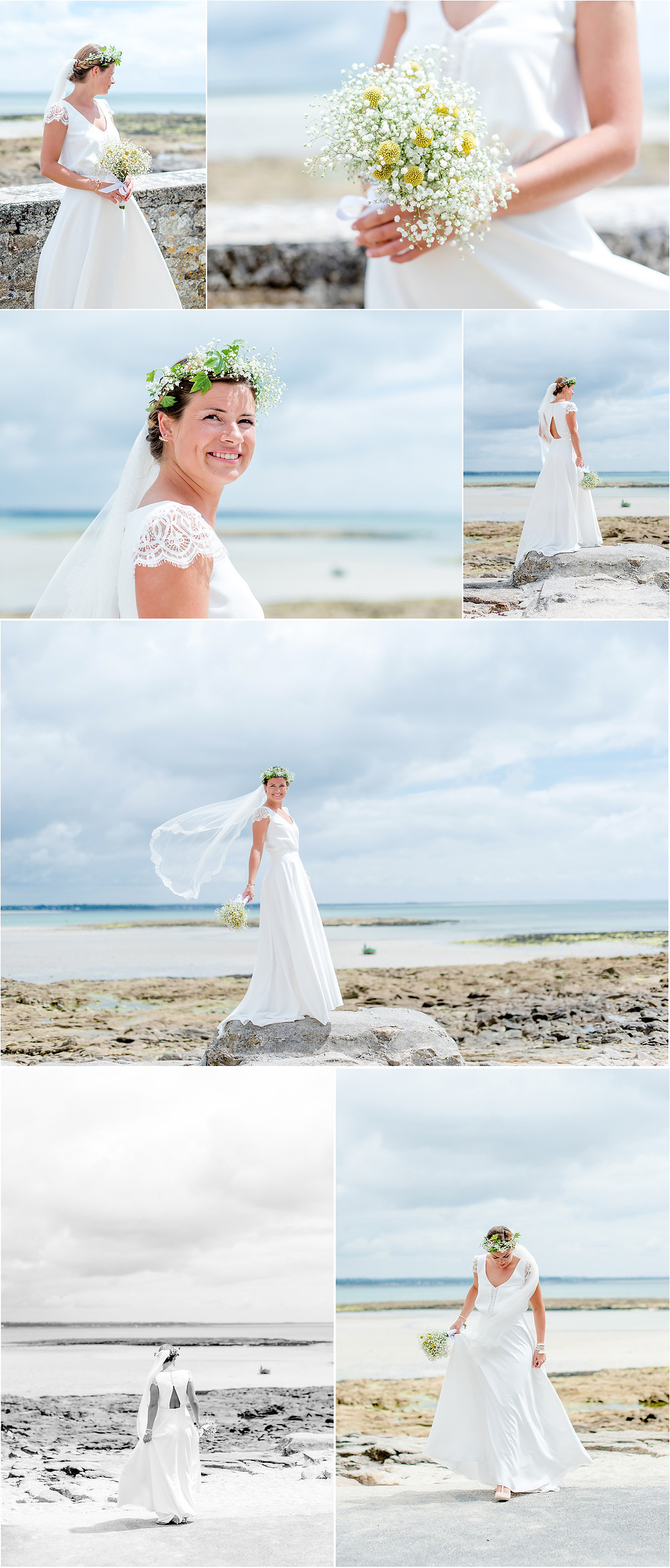 Mariage àl'Ile Tudy - Manoir de Kérouzien - photos mariée - Brigitte Delibes Photographie - Photographe Mariage Nantes