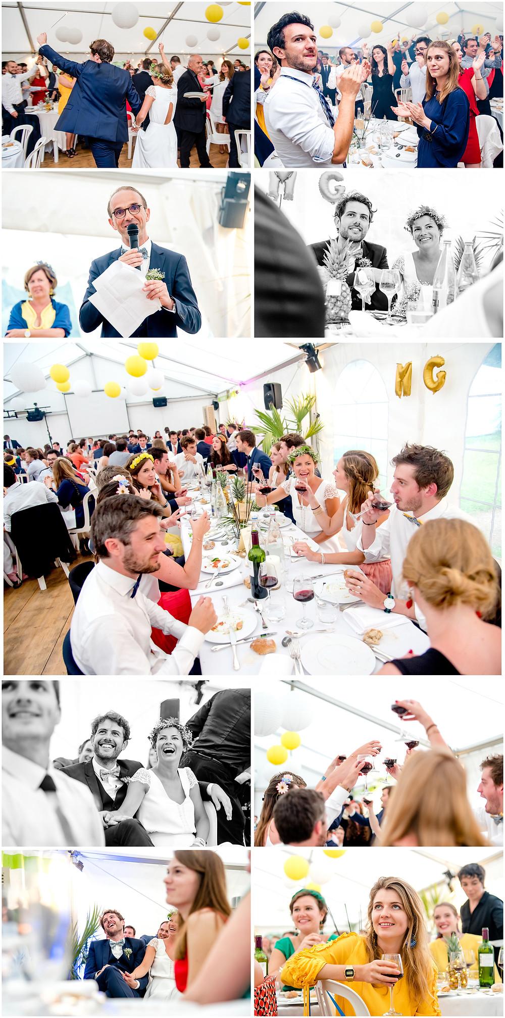 Mariage àl'Ile Tudy - Manoir de Kérouzien - photos diner - Brigitte Delibes Photographie - Photographe Mariage Nantes