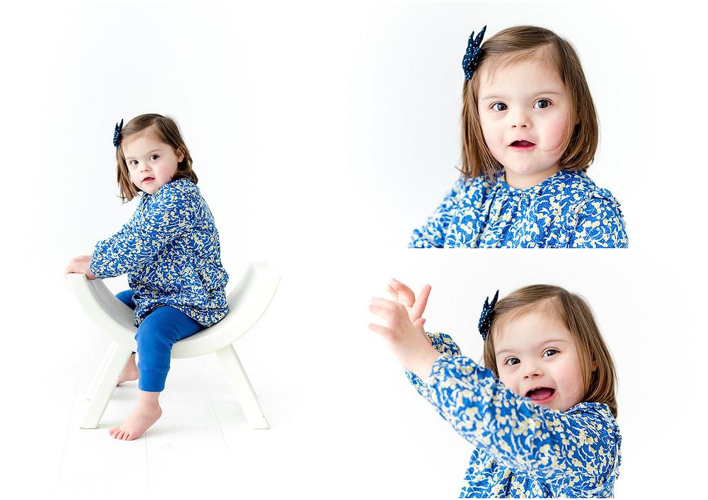 Séance photo enfant trisomique au studio - Brigitte Delibes Photographie - Photographe enfant Nantes