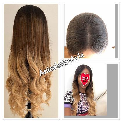 Perüke 100% Echte Haare