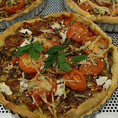 Roasted Vegetable, Tomato & Mozzarella Tart GF
