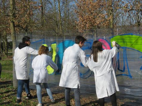 Lycée Turgot initiation Graffiti LIrreguliere