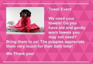 We Need Your Towels!