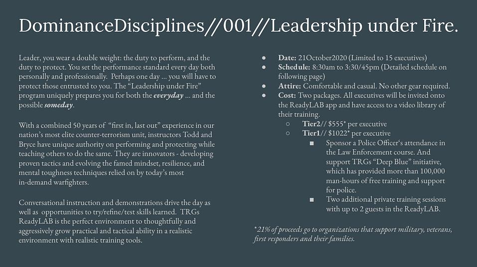 DominanceDisciplines - Leadership under
