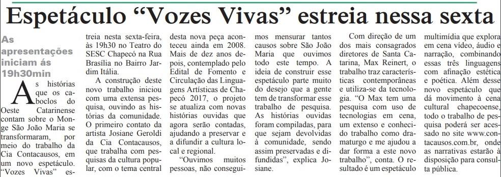 05042019 Espetáculo Vozes Vivas Jornal S
