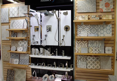 Faucet and Tile Display