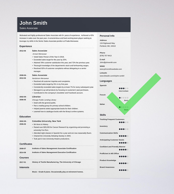 Source UpToWork Template 4 Cubic Accessible At Uptowork Resume Templates1