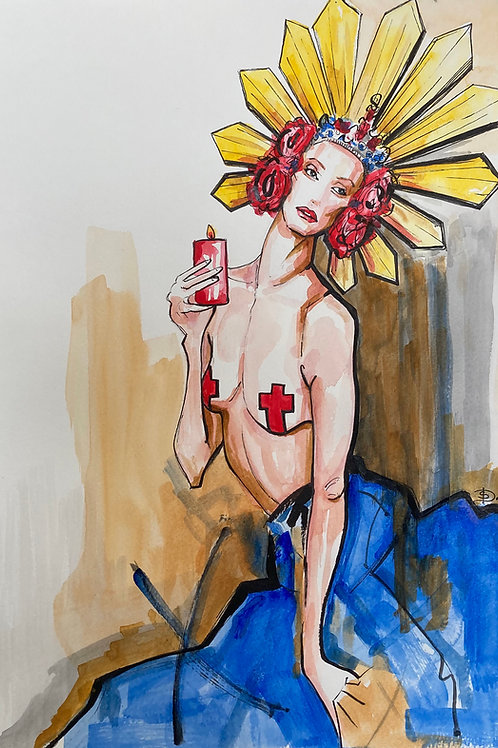 'Sweet N Twisted, Crucifix' Sunanda Docherty