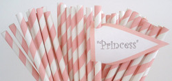 Customised straws with flags