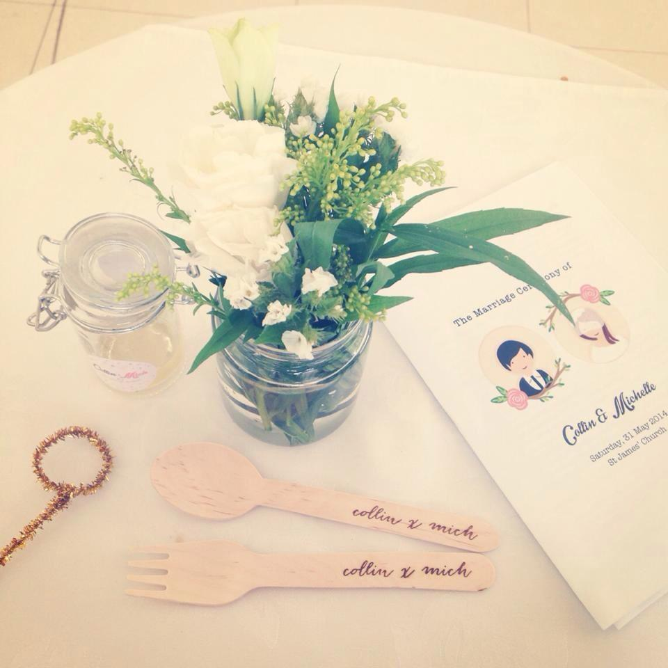 Personalised wedding tableware
