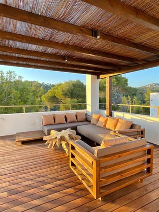 pergola - villa in Cala Gracio, Ibiza