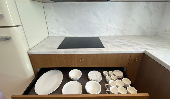kitchen in private villa - Cala Gracio, Ibiza