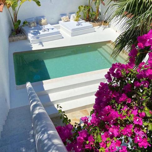 swimming pool in villa Cala Vadella