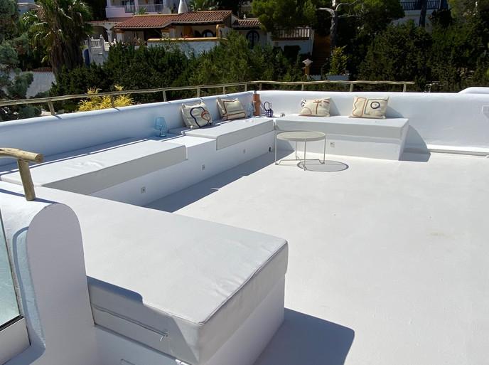 roof terrace lounge - villa Cala Vadella, Ibiza