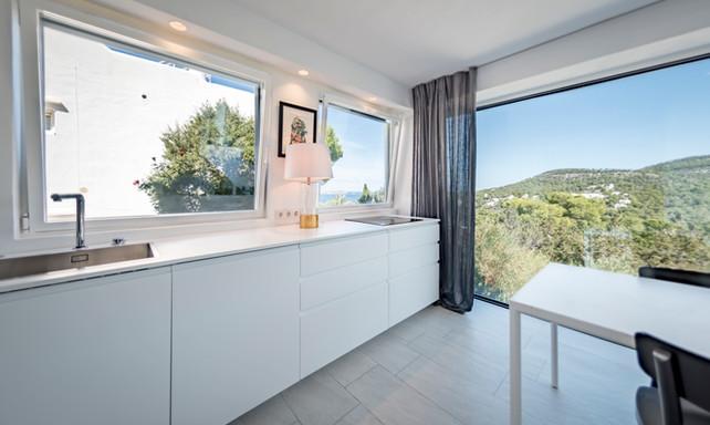 kitchen in private villa - Cala Vadella, Ibiza