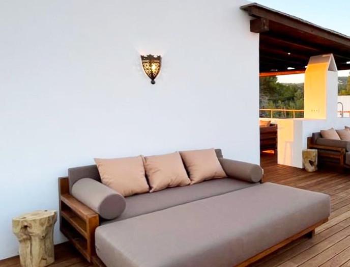 complete villa renovation,  roof pergola & custom made furniture - villa in Cala Gracio, Ibiza