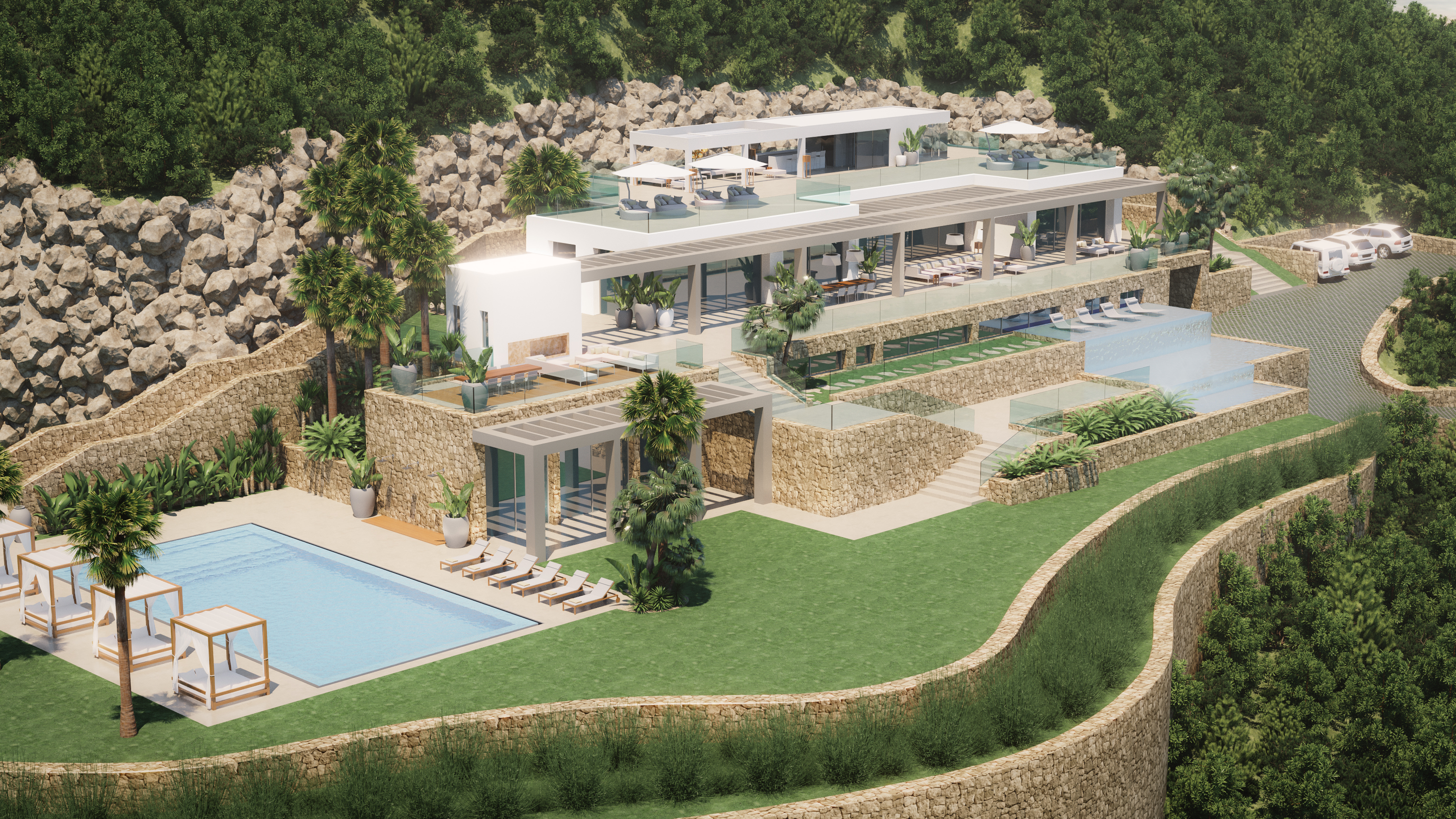 Private villa on Ibiza, 2017
