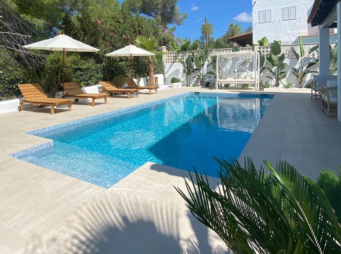 complete villa renovation & swimming pool in Villa Cala Gracio, Ibiza