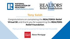 NAR 5K Certificate Tony Salah.png
