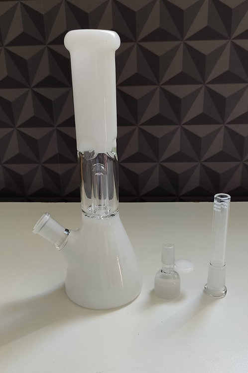 BONG PERCOLATOR WHITE 250MM B2
