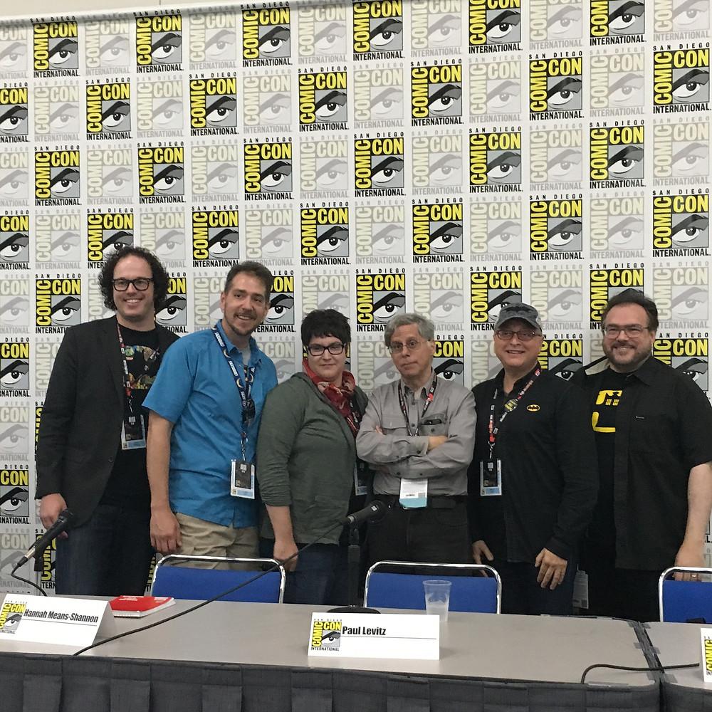 Left to Right - Chris Yogerst, Paul Zehr, Hannah Means-Shannon, Paul Levitz, Michael Uslan, Travis Langley