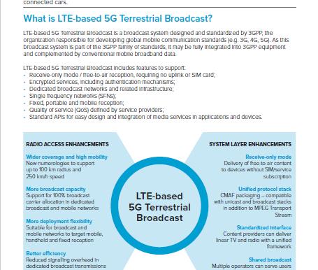 New Explainer! LTE-based 5G Broadcast