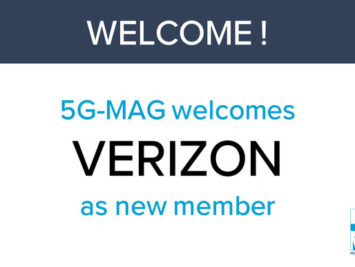 5G-MAG welcomes VERIZON as new member