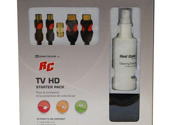 Pack TV / Ecran / nettoyant & cables