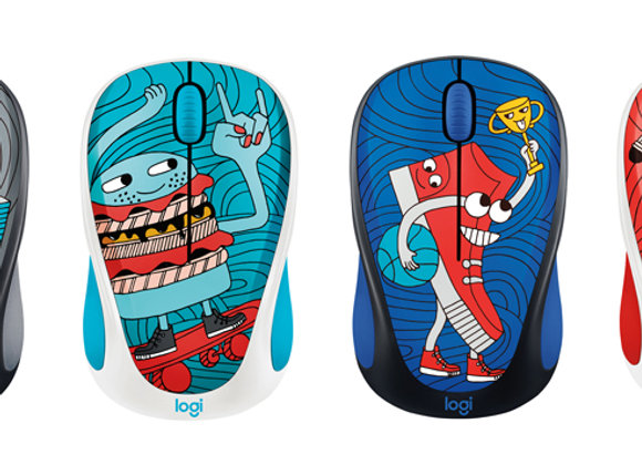 Logitech souris sans fil - Doodle Collection