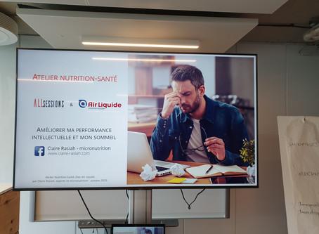 """Atelier en entreprise """"Nutrition et performance intellectuelle"""""""