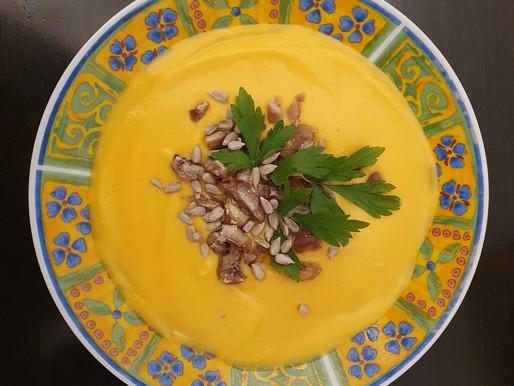 Soupe de butternut à la châtaigne