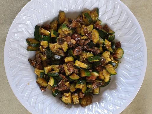 Poêlée courgettes/champignons