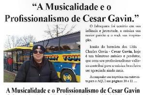 Matéria com Cesar Gavin no Jornal Aqui