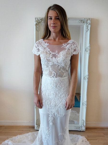 illusion wedding dress fully beaded mermaid fitted