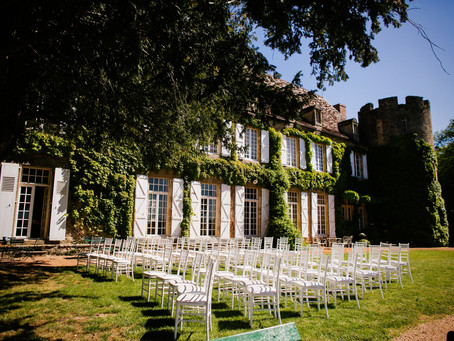 Spring Sporty Glam Wedding in a Dordogne Chateau