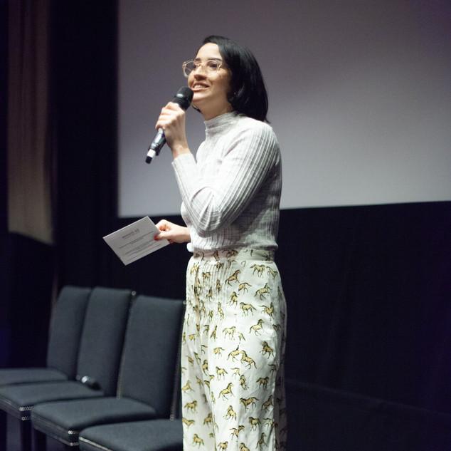Moderator Hanna Flint